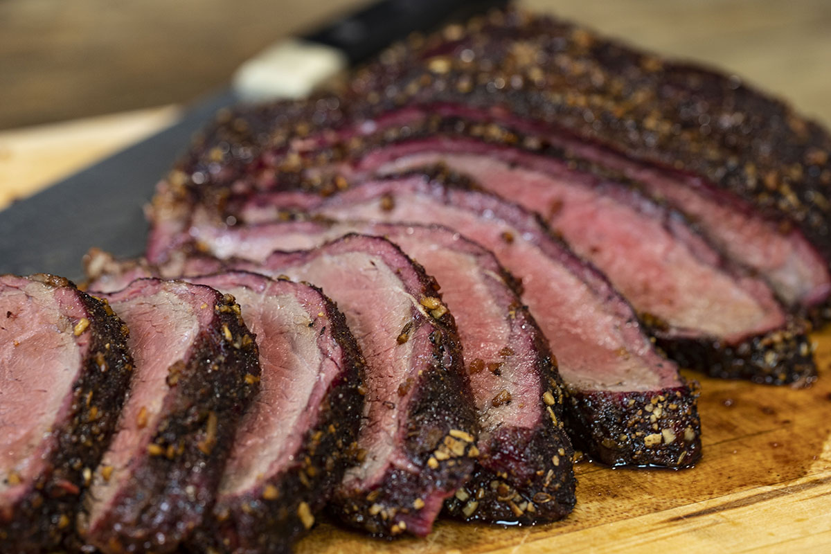 Smoked Tri Tip with Chile Verde Marinade